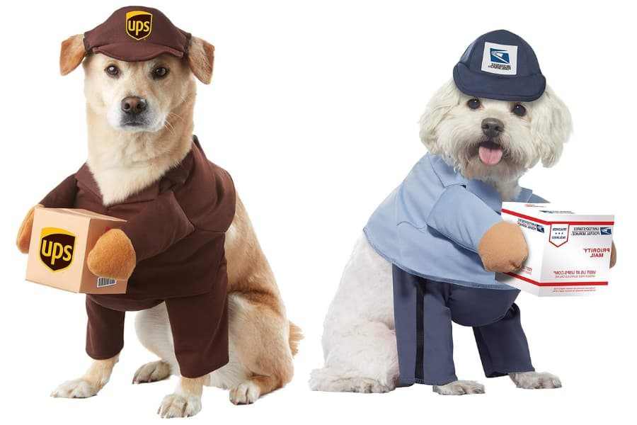 RCO Pet Care Halloween Costumes For Your Pet Dogs in UPS and USPS outfits