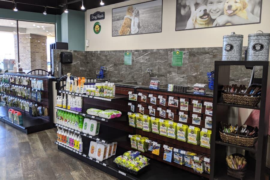 Bath stations at Choice Pet store